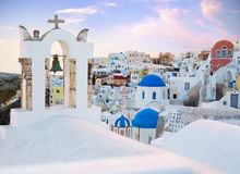 White old town of Santorini Stock Images