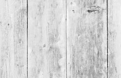 White old wood or wooden vintage plank floor or wall surface background decorative pattern. A minimal tabletop cover Royalty Free Stock Photography