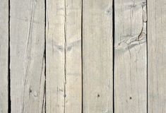 White old wood or wooden vintage plank floor or wall surface background decorative pattern. A minimal tabletop cover stock photo