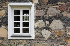 White old wooden window Royalty Free Stock Photo