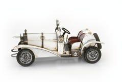White oldtimer car model Stock Image