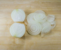 White onion on wood Stock Image