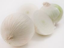 White Onions. On a white background Stock Images