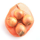 White onions. Are on white background Stock Images