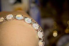 White Opal Bracelet Stock Photos