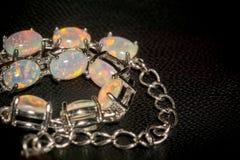 White Opal Bracelet Royalty Free Stock Photos