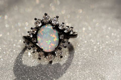 White Opal Ring stock photography