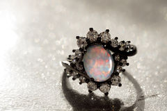 White Opal Ring stock image