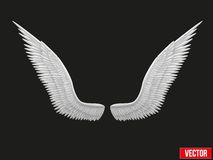 White open angel wings. Vector. Royalty Free Stock Image