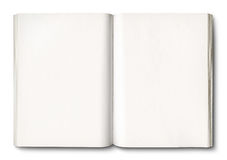 White open book isolated on white. With clipping path Royalty Free Stock Image