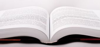 White Open Book Page Stock Photo