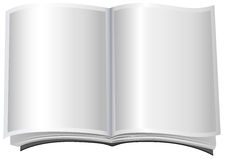 White open book in paperback Royalty Free Stock Images