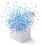 White open box flying stars Stock Photography