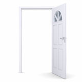 White open door Stock Photos