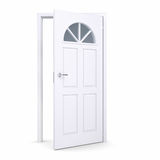 White open door Stock Image