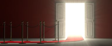 White Open Door - An Easy Way To Success Stock Photography