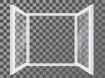 White open double window Stock Image