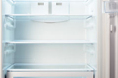 White open empty refrigerator Royalty Free Stock Images