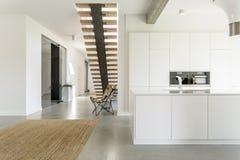 White open kitchen Stock Photo