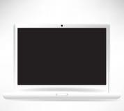 White open laptop computer vector illustration