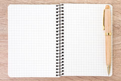 White open notebook and pen Stock Photo