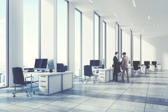 White open office environment, corner, people Stock Photos