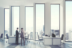 White open office environment, men Royalty Free Stock Photography