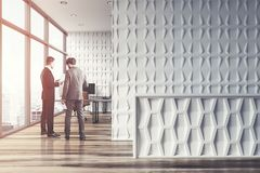 White CEO office, business people Royalty Free Stock Photography