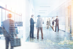 White open office and reception, double Royalty Free Stock Images