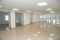 White open space office interior can be used as background.  royalty free stock photo