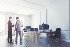 White open space office interior corner toned Stock Photography