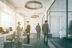 White open space office side people Stock Image