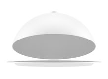 White opened cloche Royalty Free Stock Photo