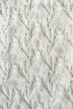 White openwork knitting Royalty Free Stock Image