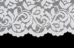 White openwork lace Royalty Free Stock Image
