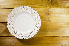 White openwork saucer Stock Photos