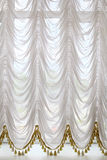White opera curtains Stock Images