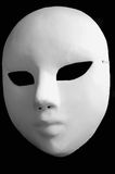 White opera mask for theatre performance. On black background Stock Images