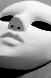 White opera mask for theatre performance. On black background Stock Photography