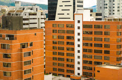 White and orange brick buildings in city Royalty Free Stock Images