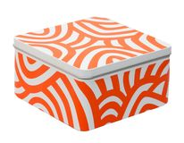 White-orange container Royalty Free Stock Photography