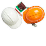 White and orange helmet Royalty Free Stock Photo