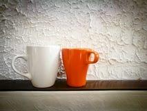 Two mugs royalty free stock photo