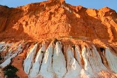 White and orange sand mountain Stock Photo
