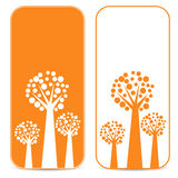White and orange trees Royalty Free Stock Images