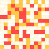 White and orange vector mosaic seamless pattern Stock Images