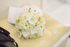 White Orchid Bouquet Stock Images