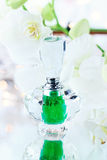 White Orchid and Perfume or Essence Royalty Free Stock Photo