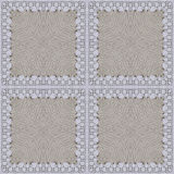 White organic cotton crochet lace background, backdrop for scrapbook Stock Photography