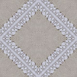 White organic cotton crochet lace background, backdrop for scrapbook Royalty Free Stock Images